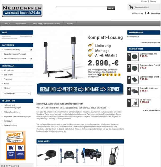 werkstatt-technik24.de-Online-Shop Optimierung, Consulting